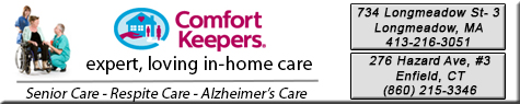 Comfort Keepers of Enfield, CT providing loving experienced care and support. From nutritional meal preparation and help with grooming to light housekeeping and companionship.  Comfort Keepers helps make our client's lives brighter, safer and more enjoyable.