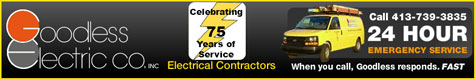 Goodless Electric- providing quality trained professionals for over 65 years in the Western MA and Northern CT communities for both residential and commercial customers.